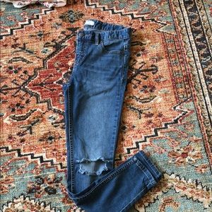 Free people mid rise distressed jeans